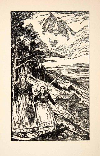 1927 Lithograph Portrait Women Nice France Landscape Costume Alp Thornton Oakley - Original In-Text - France Oakley