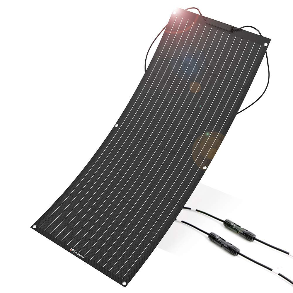 ALLPOWERS 100W Solar Panel 18V 12V Bendable Flexible Solar Charger Kit Water-Ultra Lightweight Resistant Monocrystallinewith ETFE Layer Solar Module for RV, Boat, Cabin, Tent, Car, 12V Battery-Updated