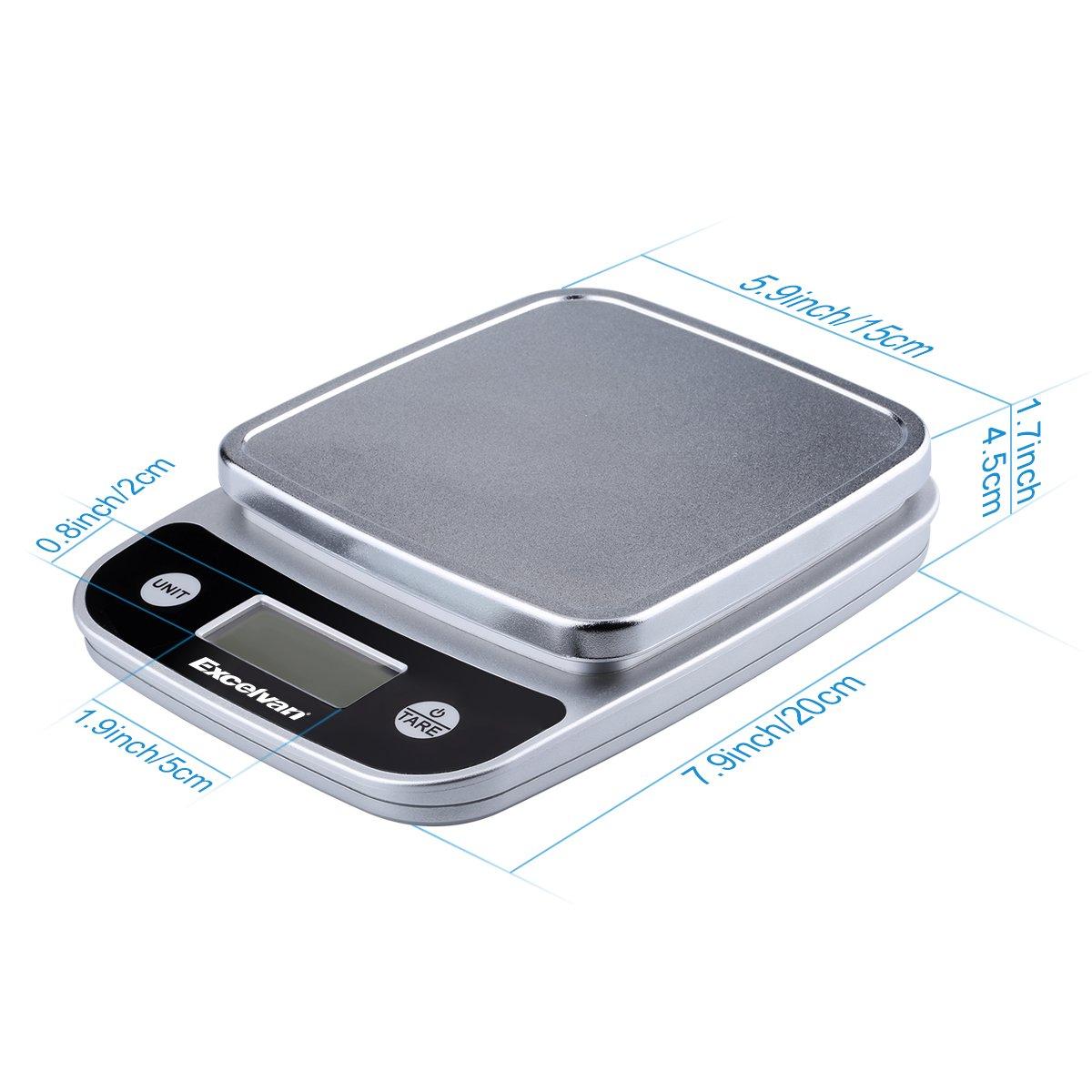 Excelvan CK772 - Balanza Báscula Digital de Cocina hasta 5Kg 11lb (2