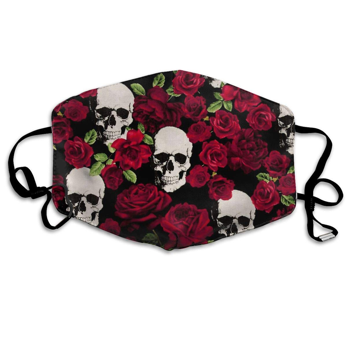 TDynasty Unisex Mouth Mask Fashion Rose Skull Surgical Masks Half Face Earloop for Outdoor Cycling by TDynasty