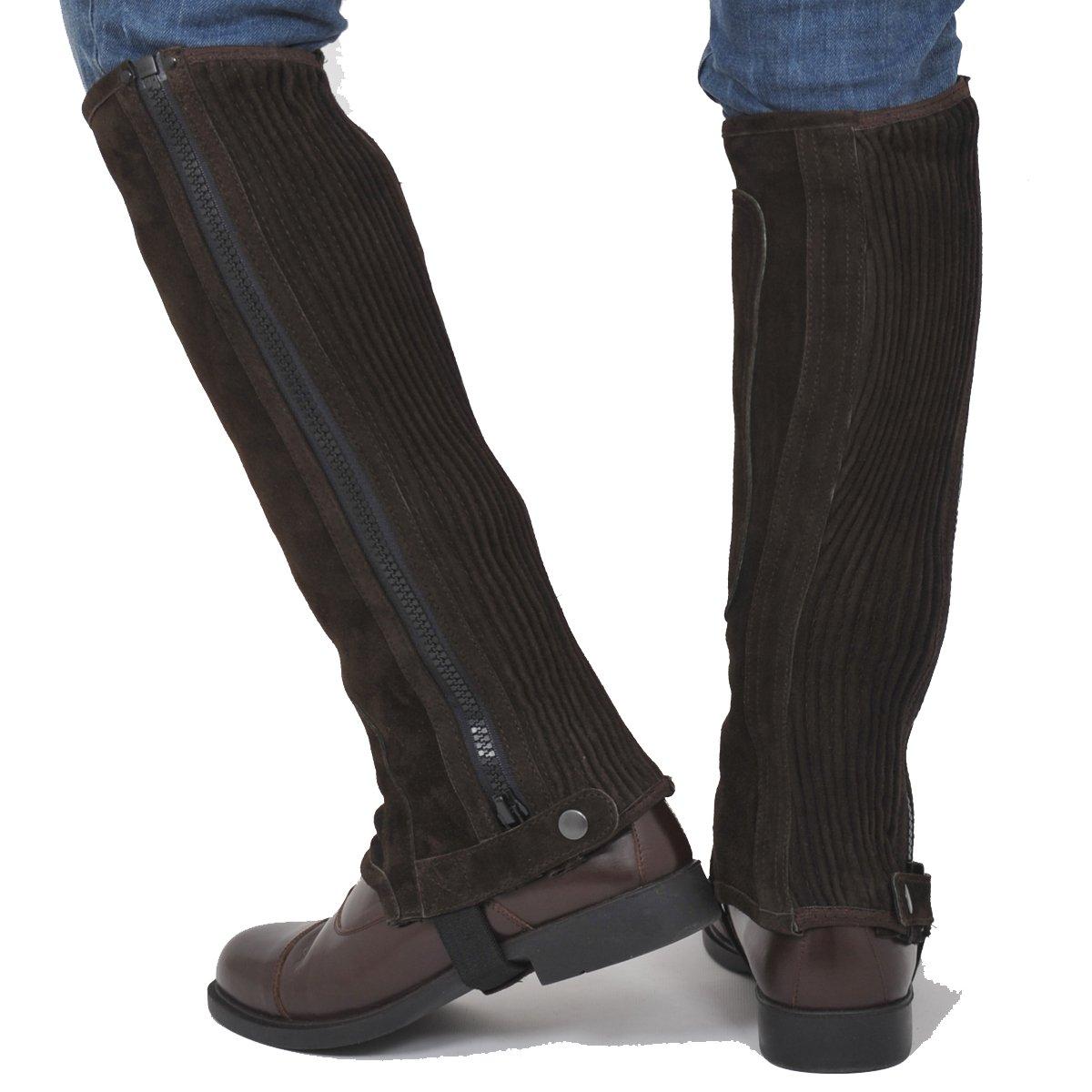 (12Ans = Mollet (27-31)cm x Hauteur-34cm, Brown brown) Riders Trend 100299 Kids Mini Chaps