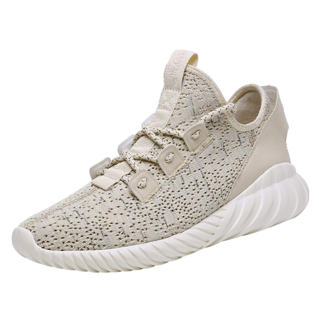 Caopixx Women's Running Shoes Knit Breathable Lightweight Athletic Walking Sneakers Tennis Shoes Khaki