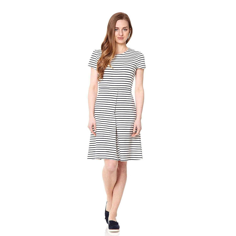 Fever Women Sienna Skater Striped Short Sleeve Dress
