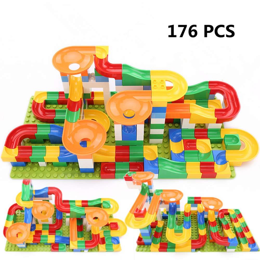 176 PCS Crazy Ball Marble Run Building Blocks Toys Set HengTongHuan