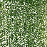 Eokeanon Plantas Artificiales, Vides Artificiales, 78 Pies (12 Piezas) Falso Hiedra Falsa Hojas Colgando Vegetación Guirnalda Planta de Vid para el Banquete de Boda Jardín Decoración de la Pared