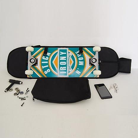 Noir sac banane Sac /à bandouli/ère pour emporter 7.5-8 planche /à roulettes cartouchi/ère rucksack sac /à dos