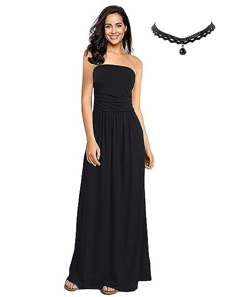7637d38fbe57 BUOYDM Donna Vestiti Eleganti da Sera Lunghi Vestito a Tubino Maxi Abito da  Cocktail Formale Banchetto Matrimonio  Amazon.it  Abbigliamento