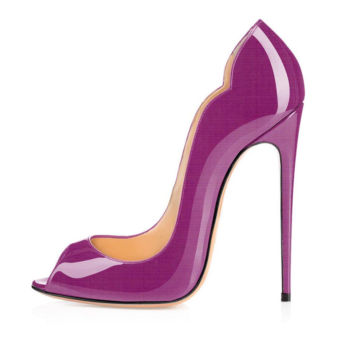 Soireelady - Zapatos con tacón Mujer 35 EU|morado
