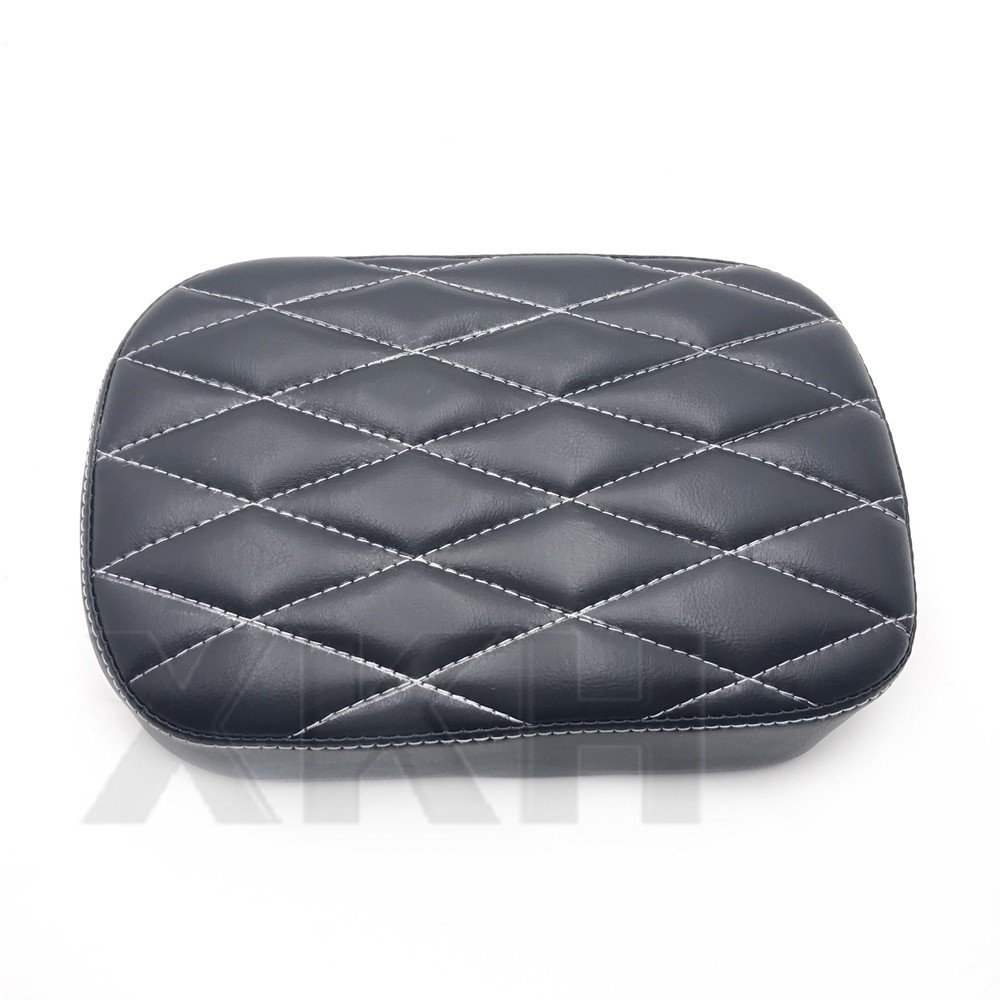 XKH Group Pillion Pad Suction Seat 6 Cup Passenger Cushion for Harley Dyna Sportster 883