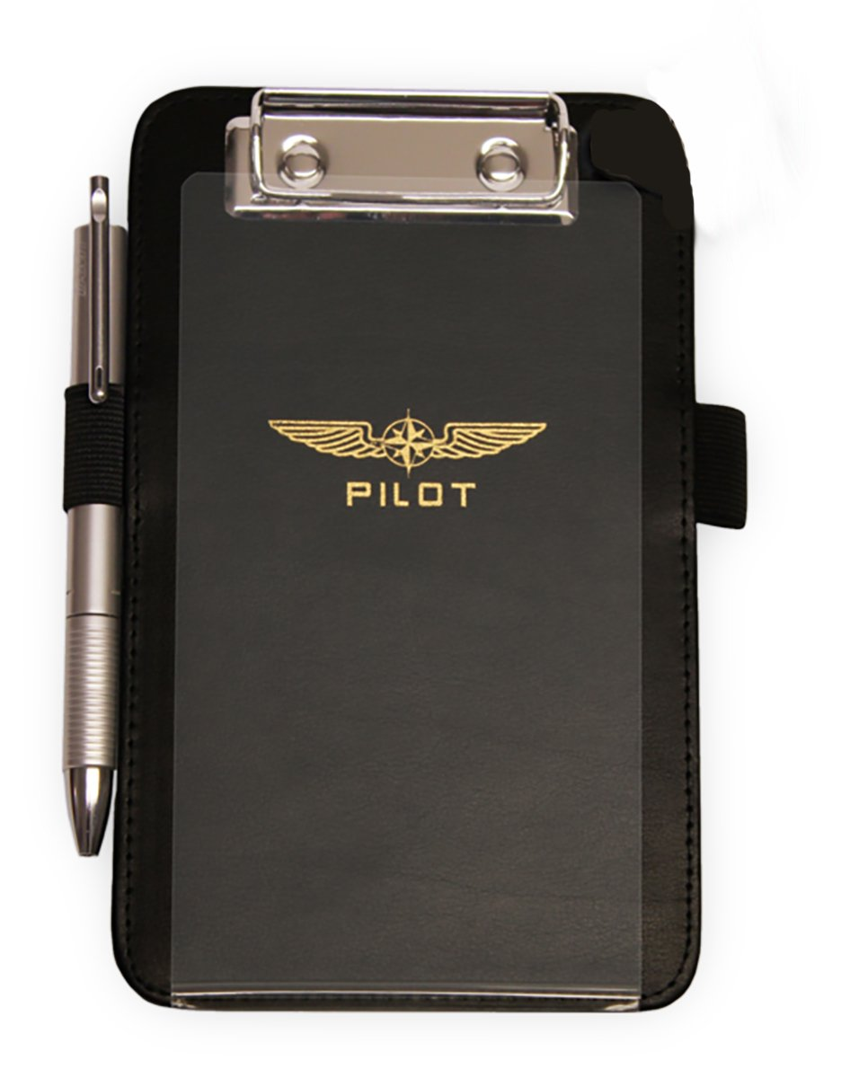 DESIGN 4 PILOTS brand HELICOPTER pilot's small kneeboard, black