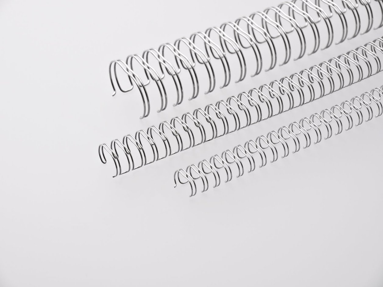 Renz Binding Wires 2:1 16 Loops for 190 Sheets 22mm Silver
