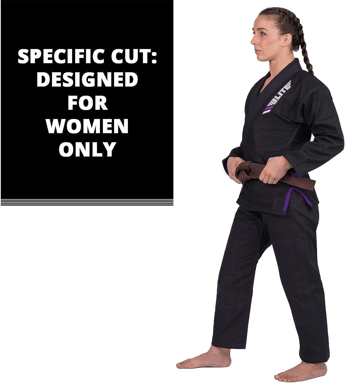 Elite Sports Ultra-Light Womens BJJ GI IBJJF Approved Jiu-Jitsu GI for Women with Free Belt