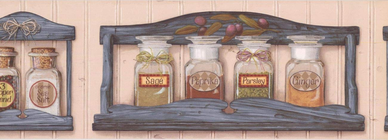Wallpaper Border Kitchen Wall Paper Border Bp007104b Amazon Com