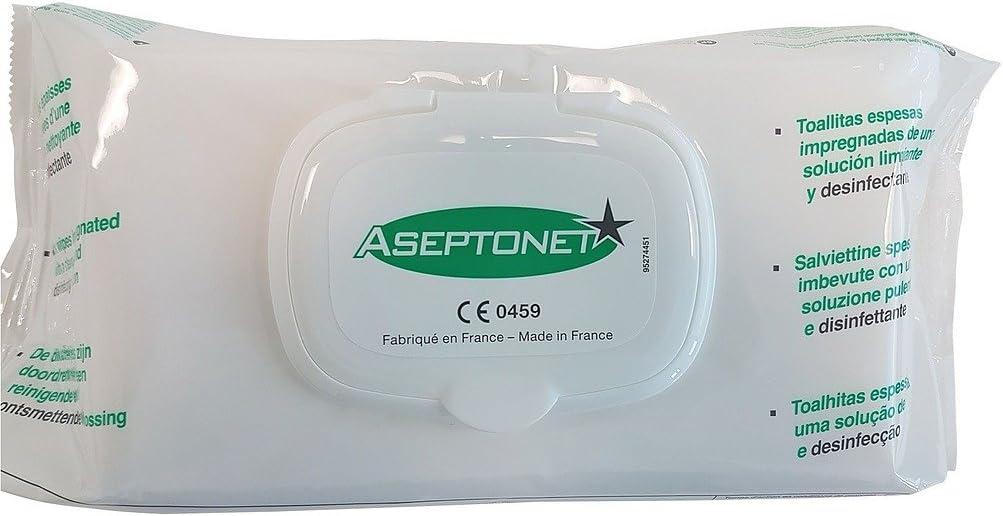 Lingettes Aseptonet Nettoyage et d/ésinfection des dispositifs m/édicaux