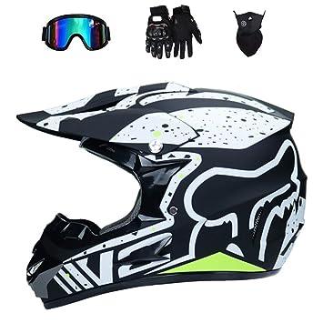 WenYan Motos Motocross Cascos y Guantes y Gafas estándar para niños ATV Quad Bicicleta go Casco de Kart: Amazon.es: Deportes y aire libre