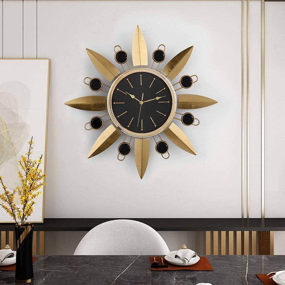 壁掛け時計 - 金属/ガラス/パーソナリティ/ホーム/時計、ファッションウォールクロックリビングルームのベッドルームクリエイティブミュート時計ウォールクロック(56x56cm) あなたが持つに値する
