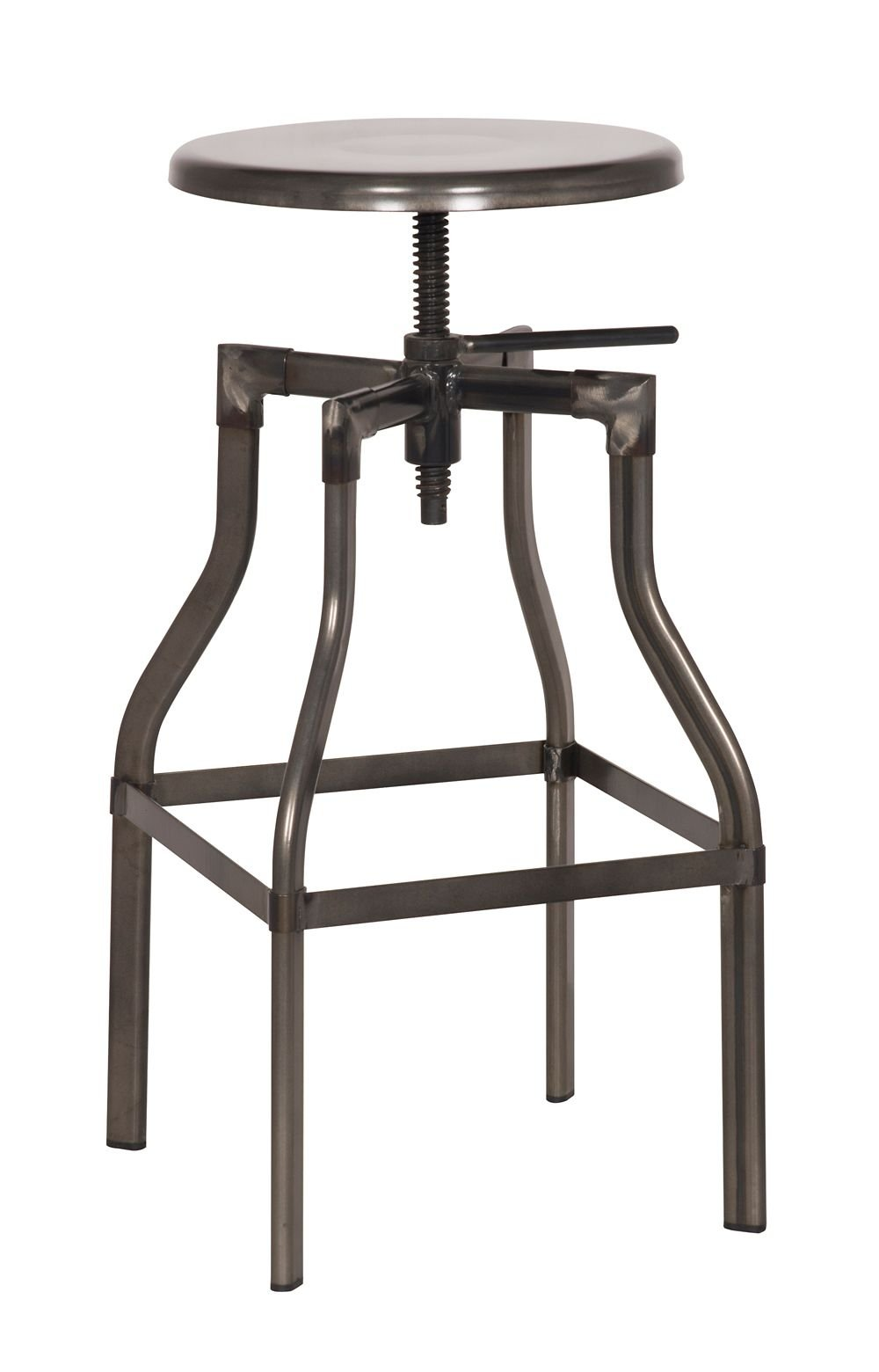 Thomas Adjustable Stool Bronze Dimensions: 18''W x 18''D x 23.5''H Weight: 16 lbs by Moes Home Collection