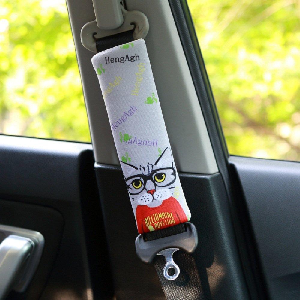 PUSHIDE 2 St/ück Gute Qualit/ät Auto Sicherheits Schulterpolster Schulterkissen Gurtpolster f/ür Kinder und Erwachsene A