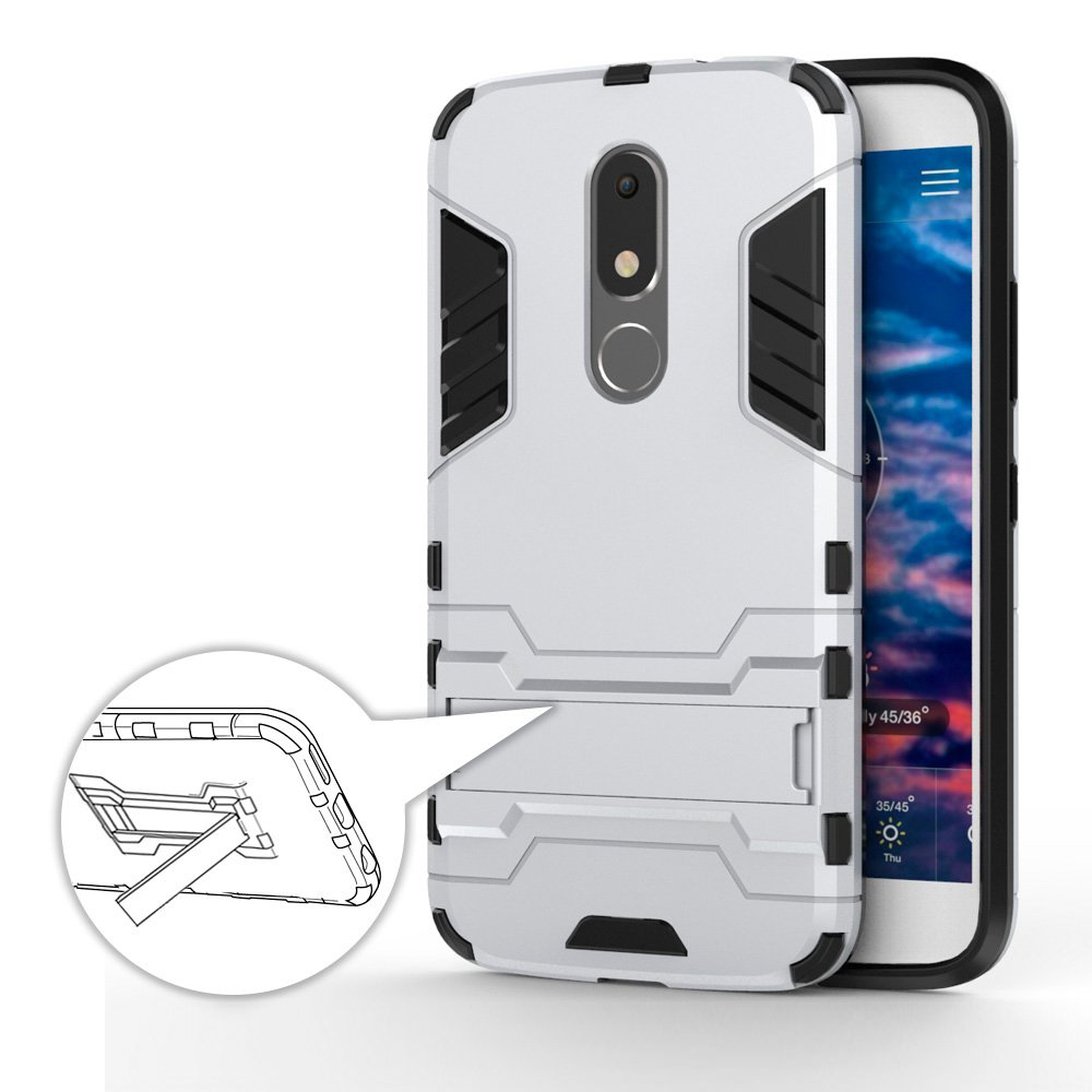 GERMAN TECH Cool Shield - Funda híbrida para Motorola Moto M, Color Plata: Amazon.es: Electrónica
