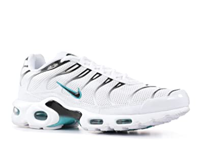brand new 0b473 457dc NIKE Men's Air Max Plus White/Black/Dusty Cactus Synthetic Running Shoes 13  D(M) US
