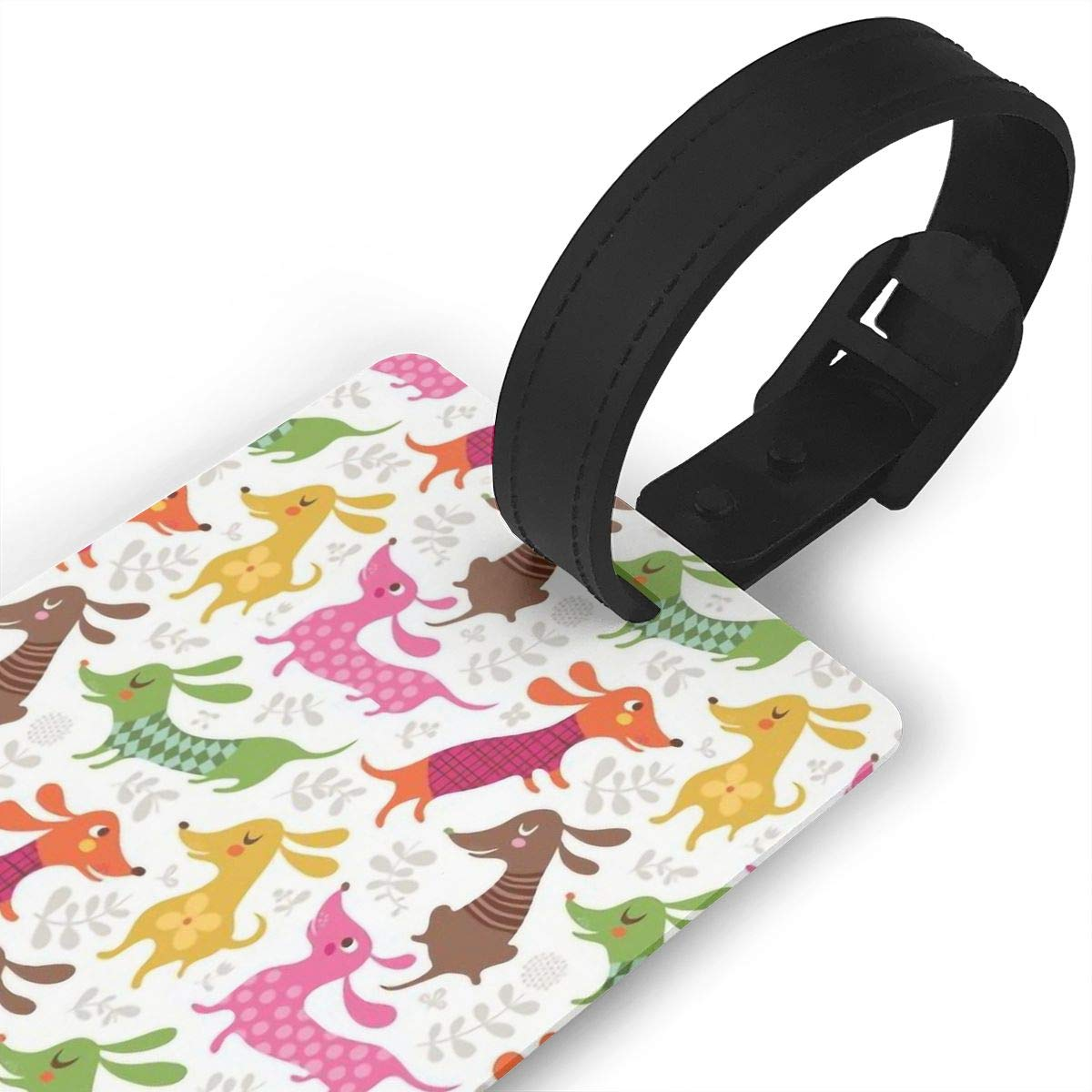 2 Pack Luggage Tags Dogs Dachshund Cruise Luggage Tag For Travel Bag Suitcase Accessories