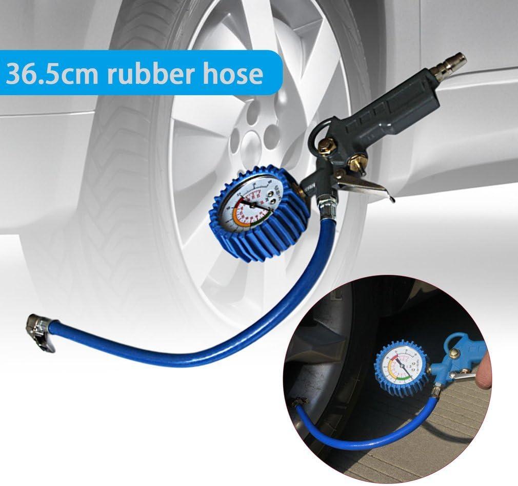 Pistolet de gonflage de pneu testeur de v/éhicule de jauge de pression de pneu pneumatique multifonctionnel