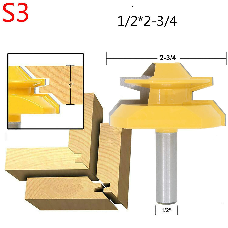 1 x t/ête de fraise pour angle et fentes pour /éb/énisterie 6 options distinctes.