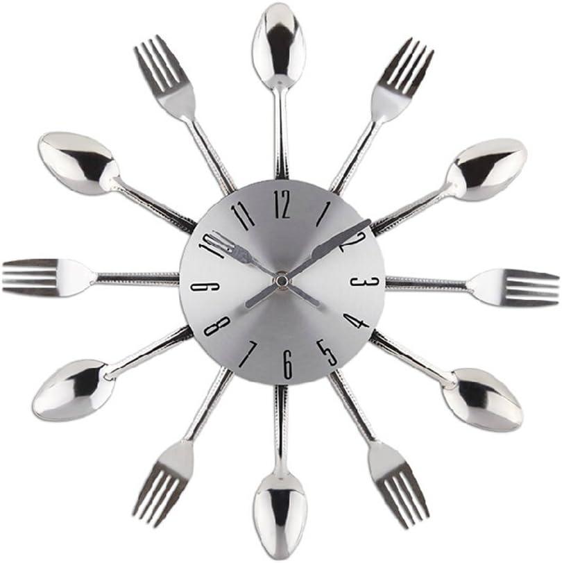 Reloj de pared de cuarzo Reloj de cocina efecto espejo con diseño ...