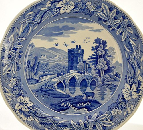 Blue Dinner Plate Room Collection (Spode Blue Room Collection Tradition Series LUCANO Georgian Dinner Plate)