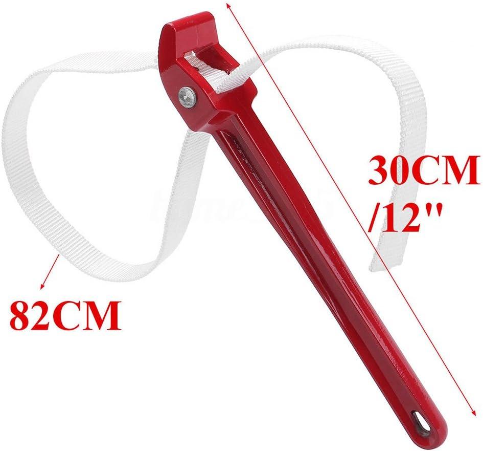 Sweet48 Cl/é /à Sangle en Caoutchouc r/églable pour serrer Les couvercles des bocaux Outil de plomberie Outil de d/émontage Universel 30cm Rouge 82