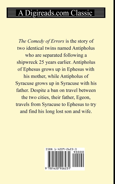 Amazon com: The Comedy of Errors (9781420926231): William