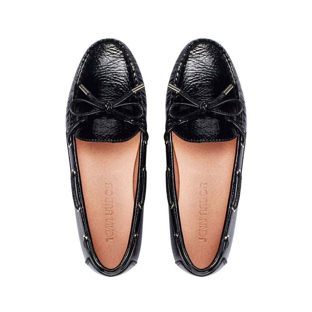 JENN ARDOR Suede Penny Loafers for Women: Vegan Leather Bow Knot Slip-On Driving Moccasins