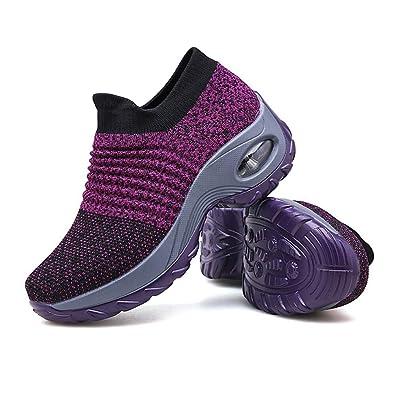 472f2de560b7c Amazon.com | ziitop Walking Shoes Women Slip On Sock Sneakers Ladies ...