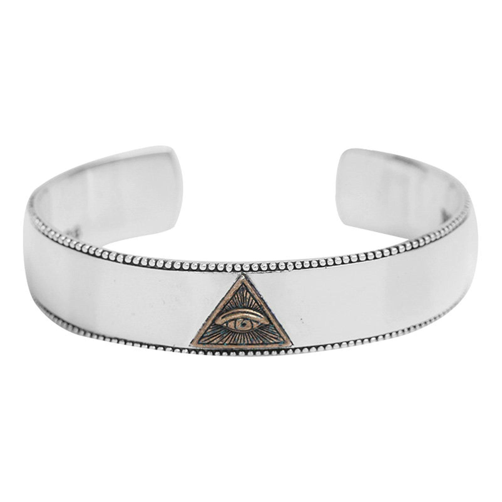 Daesar 925 Silver Bracelet For Men And Women Eye Opening Bracelet Silver
