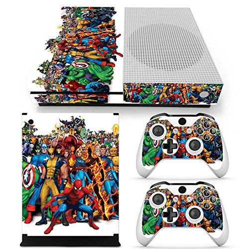 MagicSkin Skin Sticker Cover Decal Dustproof Decal for Microsoft Xbox One X Console and 2 Controllers