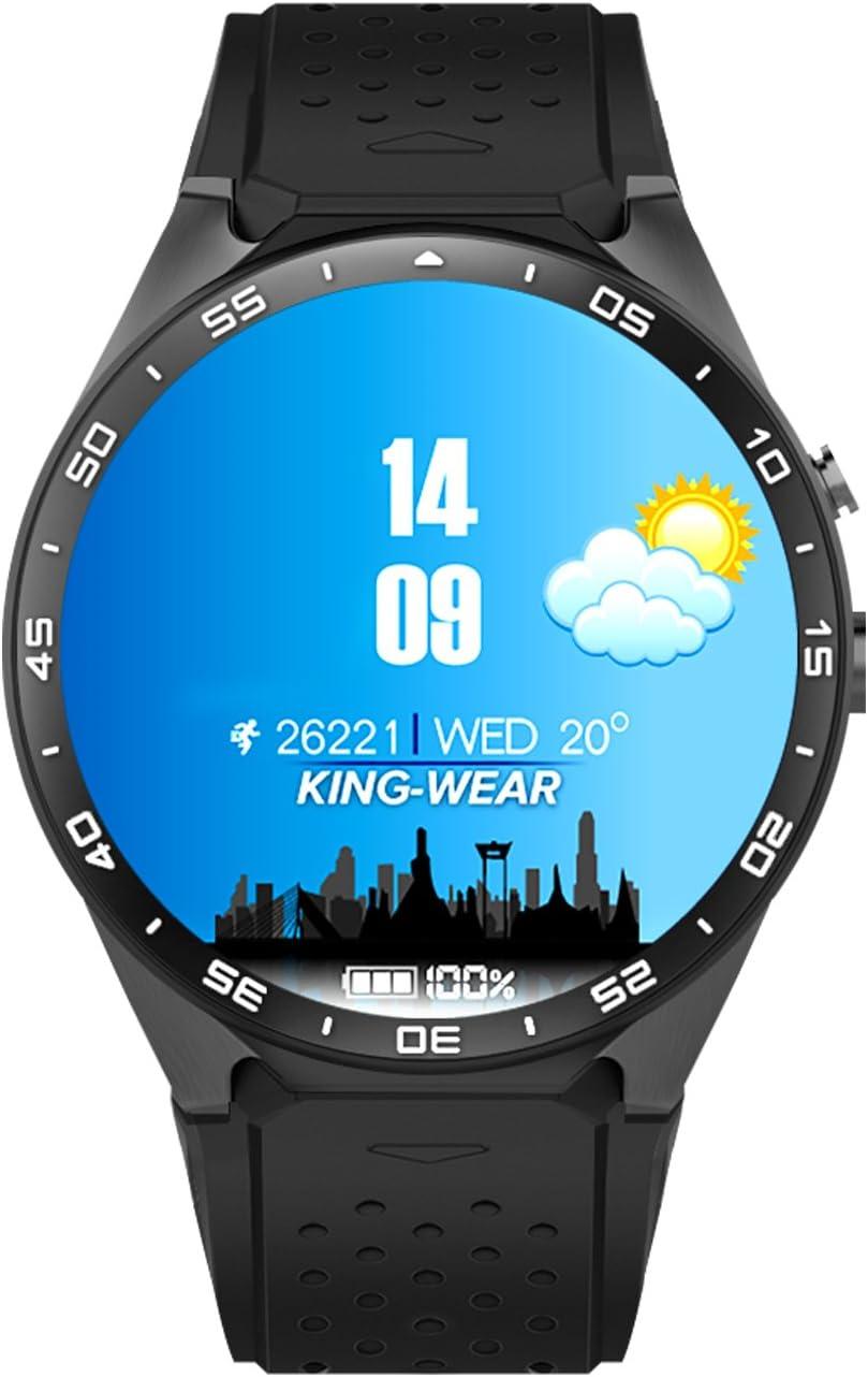 Home Care Wholesale® KW88 Bluetooth Smart Watch con Ranura para Tarjeta SIM/Reloj Deportivo de Fitness Apoya el Monitor de Velocidad de Calor para iOS y Android Smartphones