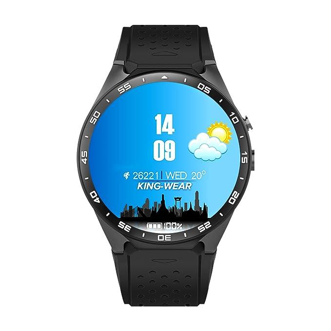 kw88 Bluetooth 3 G Reloj Inteligente, Android 5.1 OS, Quad Core apoyo 2.0 MP cámara Bluetooth tarjeta SIM WIFI GPS Monitor de frecuencia cardiaca, ...