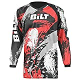 BILT Kid's Amped Off-Road Motorcycle Jersey - XS, Black/Red