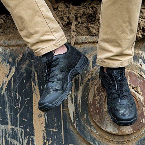 Libre Soldado Botas de senderismo Hombre Zapatos Zapatillas De Escalada deportiva para hombre zapatos de montaña antideslizante transpirable zapatos de senderismo negro (camuflaje)