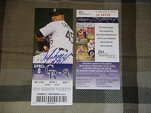 Jose Abreu Hand Signed 1St Mlb Hr Homerun Game JSA Authentication Coa Ticket-Stub 2014 Roy Debut