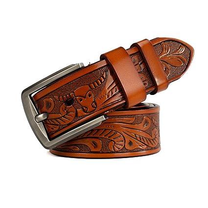Kanqingqing Cinturón para Hombres Cinturón de Hebilla de Pin ...