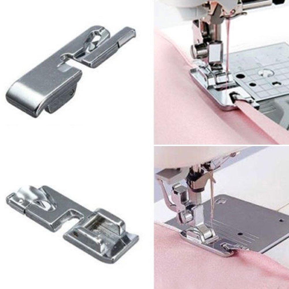 UxradG RJ-7303R - Pies prensatelas multifuncionales para Máquina de Coser, Silver/3mm, Tamaño Libre: Amazon.es: Hogar