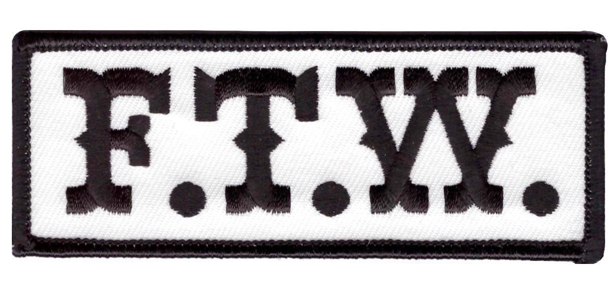 Titan One Europe F.T.W Black MC Biker Patch Motorrad Aufn/äher Aufb/ügler