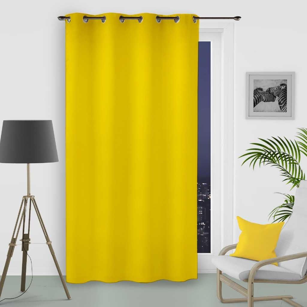 Soleil dOcre 31232 Alix Rideau /Ã//Â/ Oeillets Taupe Infroissable Polyester Ecru 135x250 cm