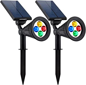URPOWER Solar Lights 2-in-1 Solar Powered LED Spotlight