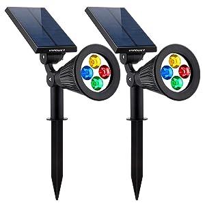URPOWER LED Solar Spotlight Wall Landscape Light