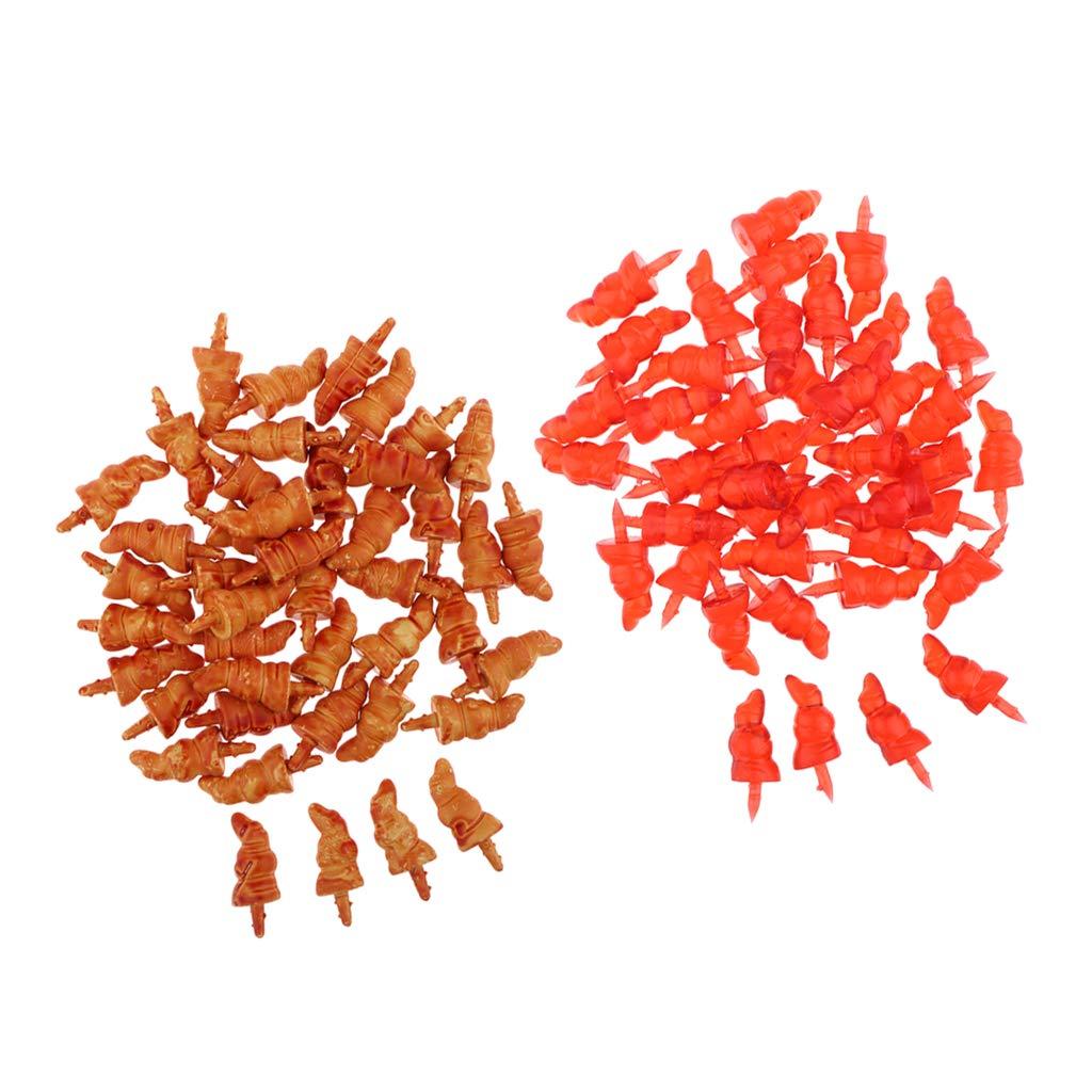 non-brand Homyl 100 St/ücke Kunststoffnasen Karotten Nase Handwerk F/ür f/ür Schneemann Orange Weihnachtsmann