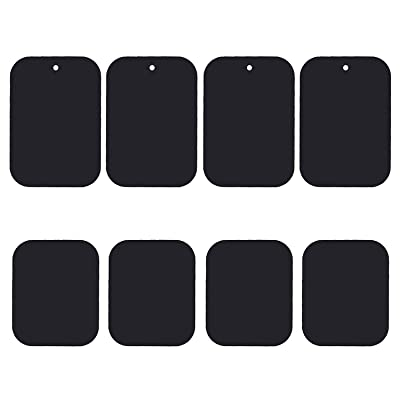 Uuustar Metal Plates for Magnetic Mount, 8PACK Metal Plates with Full Adhesive for Magnetic Car Mount Phone Holder