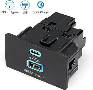 Heffchi Ford SYNC 3 USB Hub Apple Carplay,Dual USB Interface Module Upgrade USB+ Type -C Module,SYNC 3 USB + Type-C Module-Update To Version 3.4,HC3Z-19A387-B HC3T-14F014-A