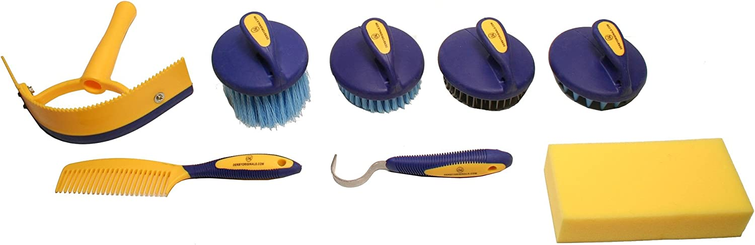 Available in Eight Colors Derby Originals Premium Comfort 9 Item Horse Grooming Kits